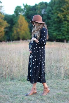Maternity Style // Embroidered Dress - Lauren McBride