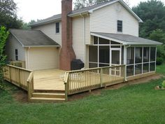 I want a screened in porch and a deck like that...fabulous!