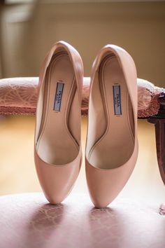 Blush Prada heels for your wedding day!  {Joanne Leung Photography}