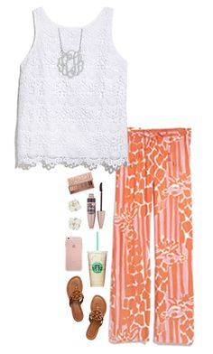 """I made this really quick cuz school"" by pandapeeper ❤ liked on Polyvore featuring Lilly Pulitzer, Allurez, Tory Burch, Kate Spade, Maybelline and Urban Decay"