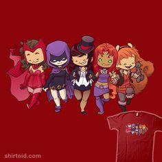 Magical Besties by Doomcat Scarlet Witch, Raven, Zatanna, Starfire, unbeatable squirrel girl Comic Book Heroines, Comic Book Characters, Comic Books, Unbeatable Squirrel Girl, Robin, Starfire And Raven, Comic Book Girl, Superhero Room, Young Avengers