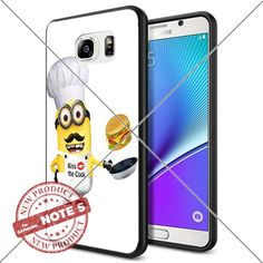 New Samsung Galaxy Note5 Case Minion Kiss the Cook Cool Cell Phone Case Shock-Absorbing TPU Cases Durable Bumper Cover Frame Black Lucky_case26 http://www.amazon.com/dp/B018KOQ8YY/ref=cm_sw_r_pi_dp_3d5zwb0XB0CTF