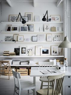 Check out these IKEA picture ledge hacks and get inspired to use them as desk drawers, coat racks, upright organisers, cat shelves and bedside tables. Ikea Deco, Ikea Picture Ledge, Picture Shelves, High Design, Ikea Pictures, Ikea Wall, Elvarli Ikea, Ikea Living Room, Dining Room