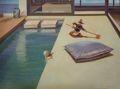 """Born Tampere, Finlandopinnot studies: Turun Taideyhdistyksen Piirustuskoulu """"Kaj Stenvall first came to the atte. Ducks, Pillows, Painting, Animals, Oil, Space, Floor Space, Animales, Animaux"""