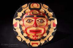 Contemporary Northwest Coast Moon Mask by Richard Hunt at Pegasus Gallery, Salt Spring Island