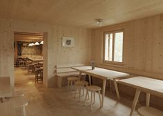 Berghuette Terri by Swiss architect Gion A Caminada #wood #wooddesign #inspiration