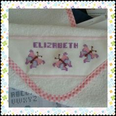 If you want to be stylish, you have to start early, just like Elizabeth!! :) - Cross stitch burp cloth - If you want a different color or size, do not hesitate to ask. - To place your orders, questions or comments, please contact us at: jymcreations@gmail.com