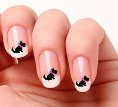 20 Nail Art Decals Transfers Stickers #694 - Scottish Terrier Scottie Scotty Dog