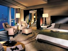 Four Seasons Executive Suite in Four Seasons Hotel Hong Kong, a Luxury Hotel in Hong Kong New Territories, Function Room, Floor To Ceiling Windows, Four Seasons Hotel, Hotel Suites, Hotels And Resorts, Luxury Hotels, Hotel Reviews, Rustic Furniture
