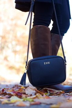 GiGi New York | Life with Emily Fashion Blog | Navy Madison Crossbody