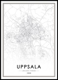 Poster med Uppsala karta. Uppsala, Map Wall Art, Cartography, Wallpaper  Quotes, 07c720554f