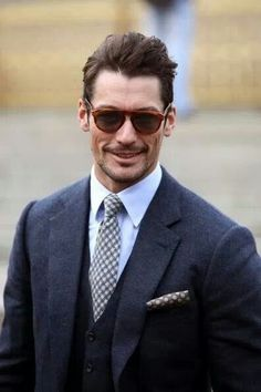 The British Modern Gentleman - A complete web with the latest news, interviews, articles, images, video about the British supermodel David Gandy Men Sunglasses Fashion, Fashion News, Mens Fashion, Solo Pics, David James Gandy, Dolce E Gabbana, Modern Gentleman, Mens Glasses, High End Fashion