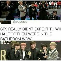 Half of them were in the bathroom wow