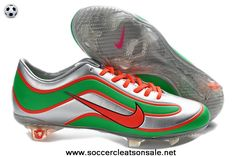 Authentic Sliver Green Red Nike Mercurial Vapor XV Limited Edition Football Boots On Sale
