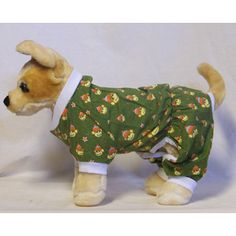 Green Monkey Business PJ - Doggy Gear - Size X Small Girl Dog Clothes, Monkey Business, Girl And Dog, Pj, Gears, Dinosaur Stuffed Animal, Dogs, Green, Animals