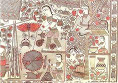 Ganga Devi — Art Lounge Madhubani Art, Madhubani Painting, Craft Museum, Art Populaire, Lounge, Indian Folk Art, Art Brut, Fashion Painting, Traditional Paintings