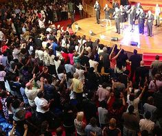 Packed Crowds Fill London's Central Hall Westminster with Praise and Worship. For upcoming Miracle Crusades, services, and additional events, go to:  http://www.bennyhinn.org/events/upcoming-events