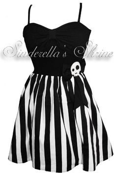 Hell Bunny Skully Beetlejuice Dress - Hmmm... Its construction could be simple!
