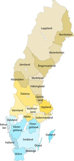 Provinces of Sweden - I live in Småland. Grow up in Härjedalen/Lappland :) Voyage Suede, Learn Swedish, Swedish Traditions, Swedish Language, Sweden Travel, Sweden Map, Italy Travel, Lappland, Scandinavian Countries