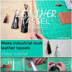 How to make your own leather bag tassels (video tutorial) ...