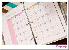 Mini Binders printables! This girls blog is pretty cool if you're interested in crafty stuff and printables...
