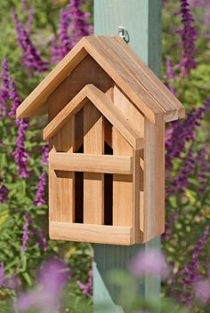 Teak Butterfly Shelter.  Add a couple #butterfly bushes to your backyard and watch in wonderment.