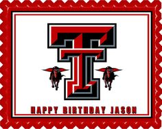 Texas Tech University 1 Edible Birthday Cake Topper