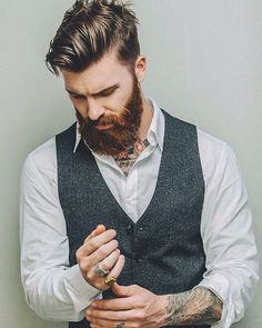 Levi Stocke. Hair/beard/shirt+vest=loooove! Great style!