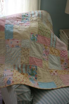 Sewn With Grace: Leftover Blocks.  Pattern is Easy Bake by Cluck Cluck Sew for a layer cake.