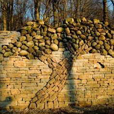 Rock wall + sculpture. you CAN have it all...