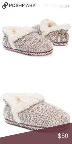 COMING SOON! Winter Slippers Women's + Snuggle into these winter style slippers! + Product details: Relaxed Fit, Warm and Comfortable, Indoor/Outdoor Sole, Faux Fur Detail + Stylish design is accented by faux fur details for a girly look + Wipe with a damp cloth to clean, no bleach, lay flat to dry + TPR Indoor/Outdoor Sole + 100% Polyester Furpa Insole / 100% Acrylic Upper / 100% Polyester Furpa Lining + Fits true to size: Medium (7-8), Large (9-10) + Like this listing to get a price drop…
