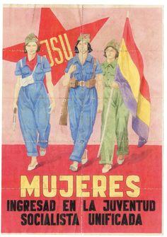 Anverso cupones de racionamiento en el que se animaba a las mujeres a ingresar en la J.S.U. Cieza, 1937.