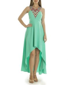 Liz hi low turquoise dress |  Shop now: www.thesecretlabel.com