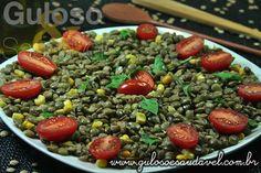 Receita de Salada de Lentilha com Manjericão