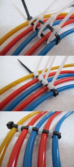 The best DIY projects & DIY ideas and tutorials: sewing, paper craft, DIY. Ideas About DIY Life Hacks & Crafts 2017 / 2018 Cable management -Read Home Projects, Projects To Try, Simple Life Hacks, Garage Organization, Organized Garage, Garage Storage, Diy Storage, Computer Lab Organization, Organization Ideas