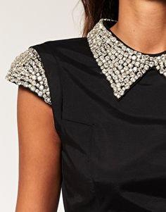 dress with embellished collar skater. love!!