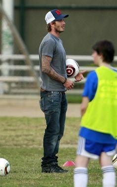 David Beckham in Dior Homme