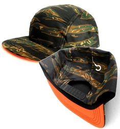 96cb67ccbdcd3 new FIVE PANEL CAMO CAMPER HAT w DOUBLE SNAPBACK Green Brown Black NEON