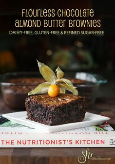 Flourless Chocolate Almond Butter Brownies - She Paused 4 Thought