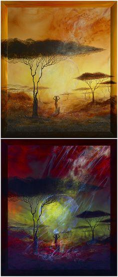 Luminescent painting NIRI • 2012, canvas | acrylic, daylight and UV light • Painting Ideas | Fluorescent Art | Fluorescent Paintings | Home Decor | Art | Art Ideas | Contemporary Art | Abstract Art | Fine Art • Available on Etsy •