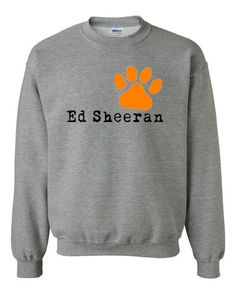Ed Sheeran Paw Logo One Direction Unisex Sweater Sweat Shirt Sweatshirt oh my gosh if i have to only wear one jacket for the rest of my life it would me this please and thank you mommy :)