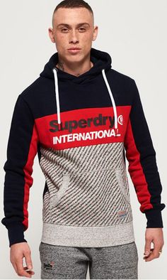 Shop Superdry Mens Trophy Micro Print Track Hoodie in Trophy Navy. Buy now with free delivery from the Official Superdry Store. Mens Sweatshirts, Men's Hoodies, Camisa Polo, Hoodie Outfit, Celebrity Outfits, T Shirt, Urban, Mens Fashion, Superdry Fashion