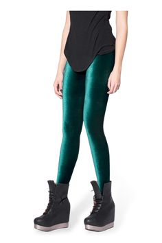Funky Dark Green Crushed Velvet Tight Pants For Women Winter Leggings Winter Leggings, Women's Leggings, Black Leggings, Leggings Are Not Pants, Tights, Winter Skirt Outfit, Winter Outfits For Work, Casual Winter Outfits, Plus Size Ripped Jeans