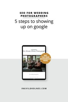 Your photography business and website can be the best around, but if the content on your page doesn't contain keywords that your ideal clients are using when they search on Google, then they probably won't find you. I have listed 5 steps to showing up on Google for your photography business. #businesstips #seotips #businesstools #seo #weddingphotographers #photographertools #websitetips #smallbusinesstools #websiteseo Business Tips, Online Business, Get Educated, Seo Tips, Make More Money, Photography Business, Social Media Tips, Self Development, Success