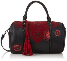 Desigual  BOLS_SIDNEY KERALA, sacs bandoulière femmes - Rouge - Rot (Carmin 3000), 34x31x16 cm (B x H x T) EU