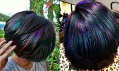 Oil Slick Hair Colors: Pastel For Brunettes? | Hairstyles, Haircuts and Hair Colors On Hairdrome.com