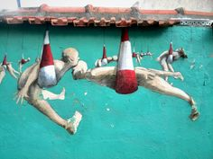 Philippe Herard - street art - Paris 20, rue des couronnes (sept 2014) #streetart jd