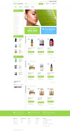 OpenCart Template , Drugster