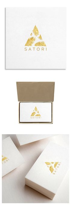 Golden Palm Illustration Logo Template $19.00