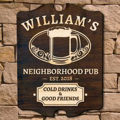 Good Friends Gathered Custom Bar Sign Signature Series Home Bar Signsgarden